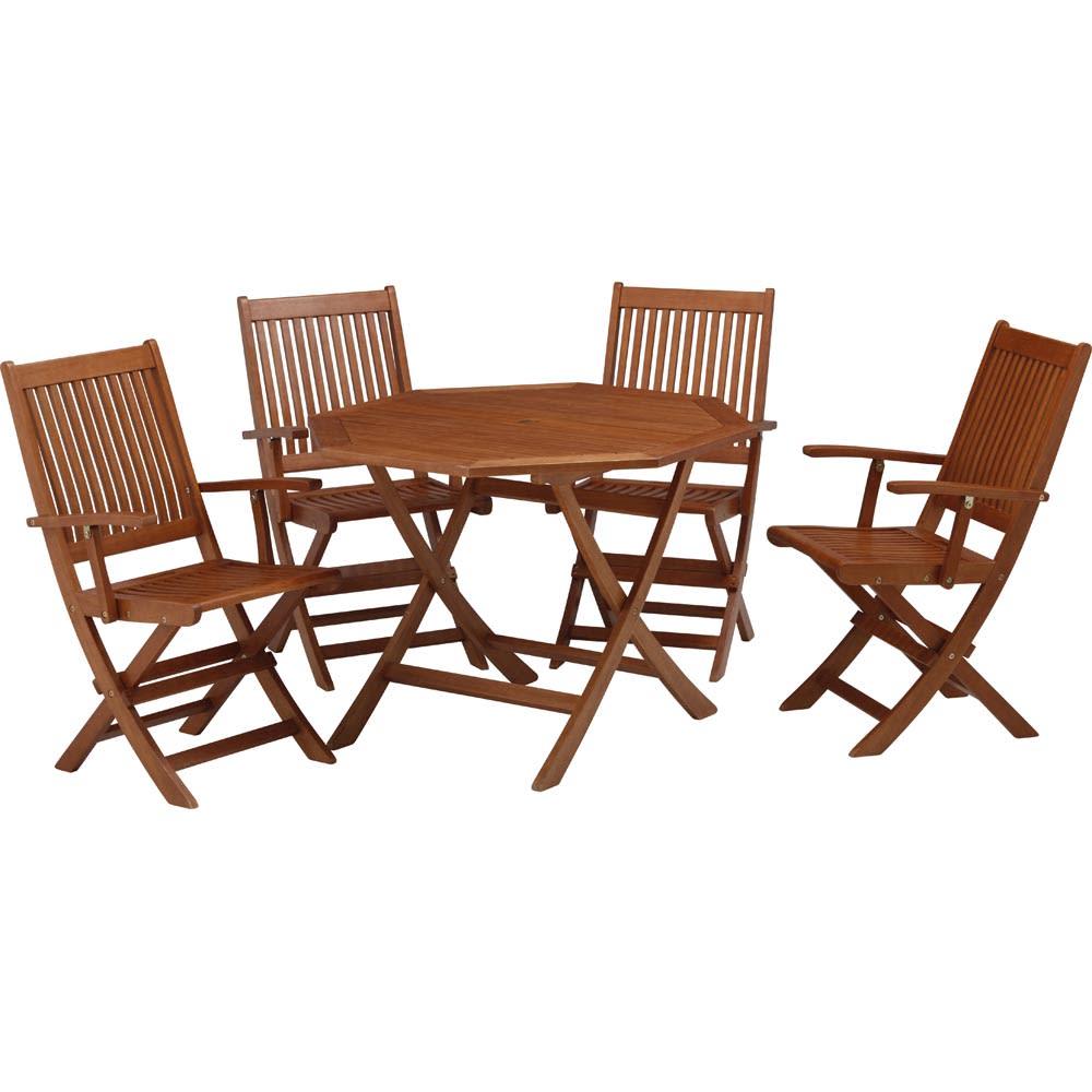 折りたたみ八角形テーブル&チェア アームチェア2脚組 お届けはチェア2脚組です。