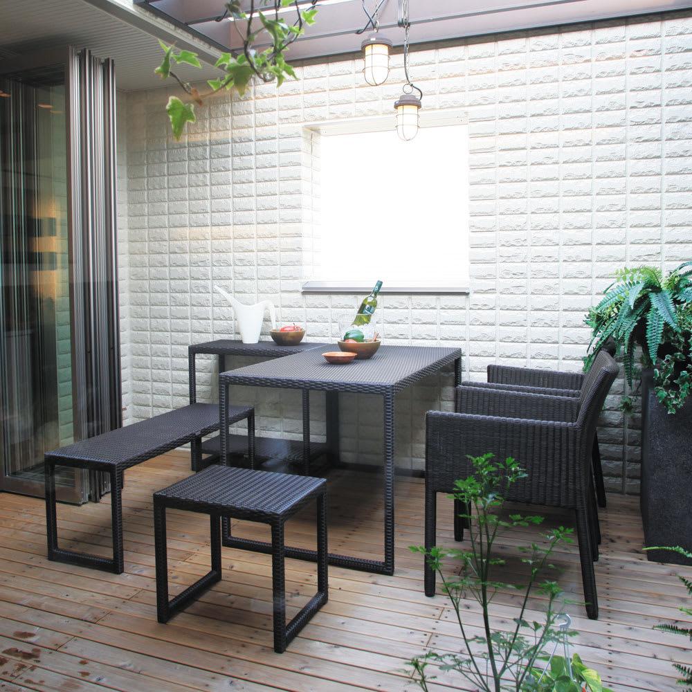 庭座 シンプルスクエアテーブル