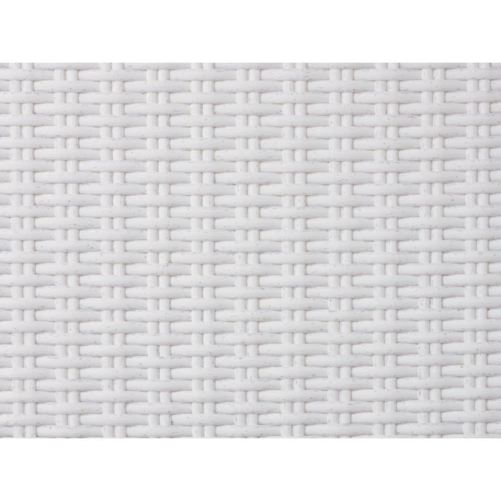 庭座 シンプルアームチェア2脚組 (イ)ホワイト