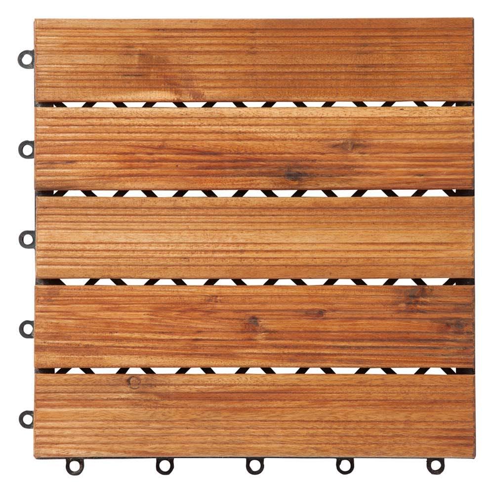 木製ジョイントデッキパネル 9枚組 (ア)ナチュラル