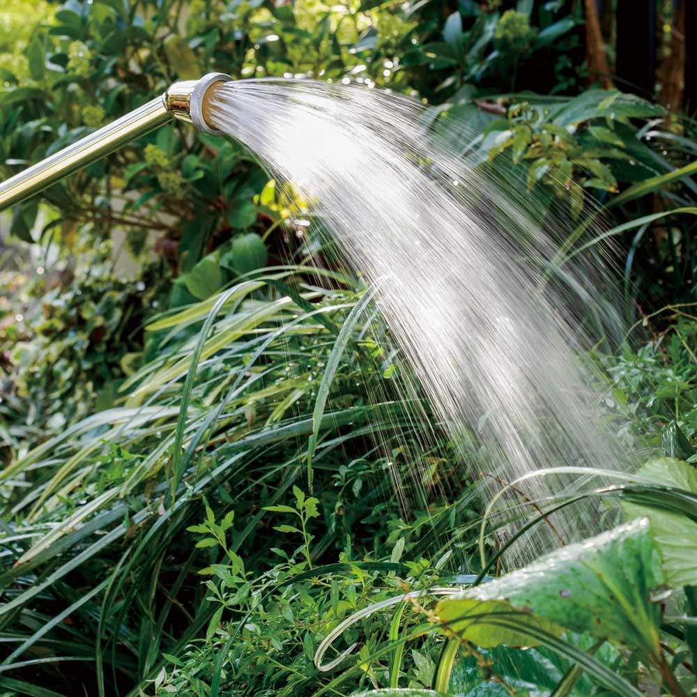 職人手作り柔らかな水の真鍮ノズル 長さ37cm 繊細な水流なので、植物を傷めにくいのが特長です。