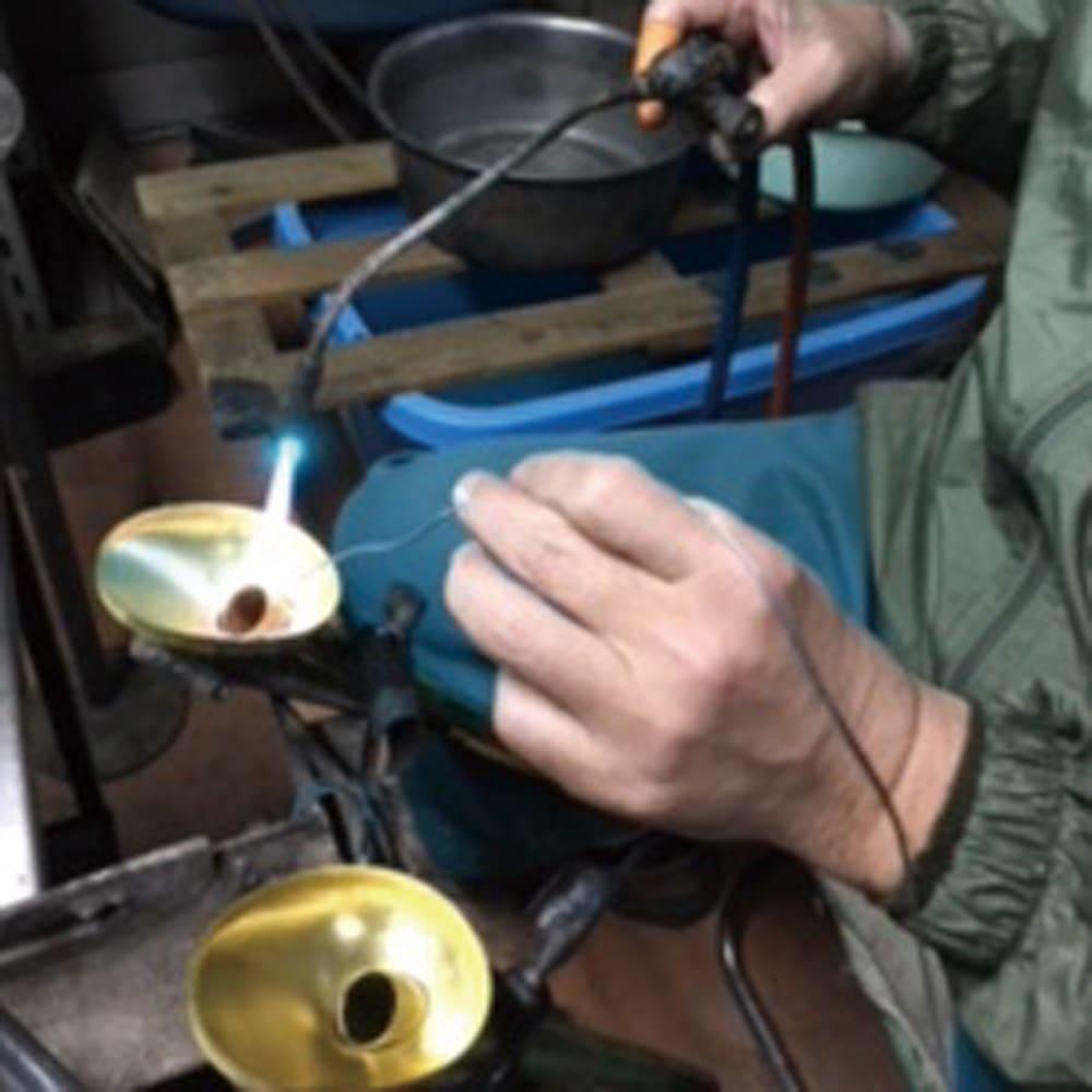 職人手作り柔らかな水の真鍮ノズル 長さ37cm 職人の手により、ひとつずつ手作業で作られています。