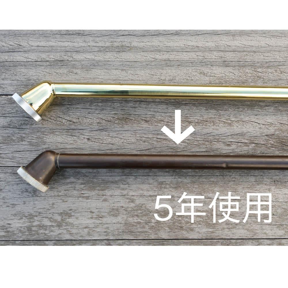 職人手作り柔らかな水の真鍮ノズル 長さ37cm 使い込むほどに味わい深い色合いに変化する真鍮製。