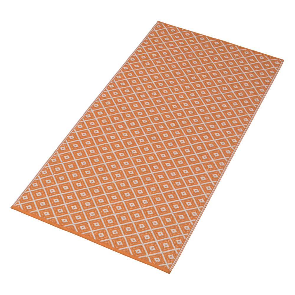アウトドアラグ 90×180cm (ア)オレンジ系