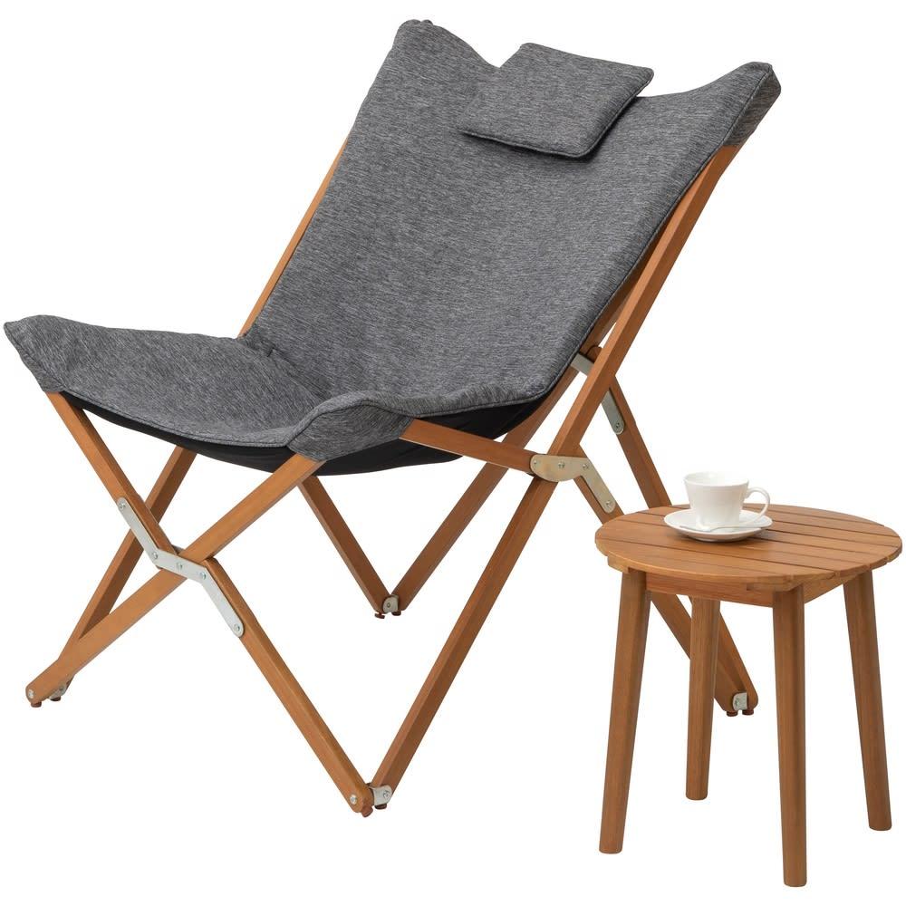 木製サイドテーブル ルーナ お届けはサイドテーブルのみとなります