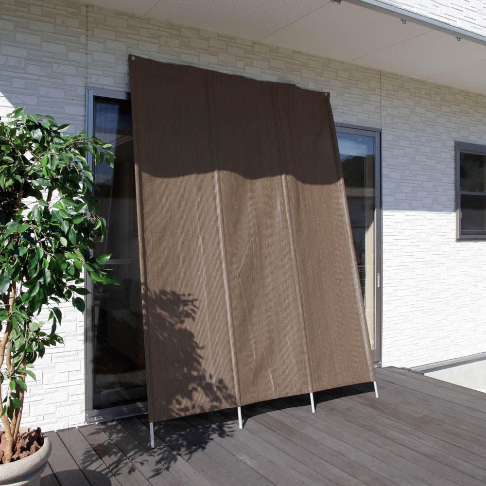サマーオーニング洋風たてす 高さ300cm (使用例)ブラウン