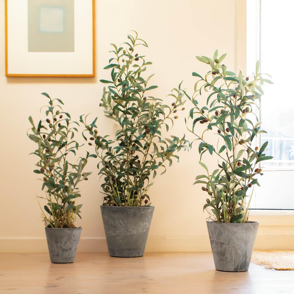 人工観葉植物オリーブ 高さ90cm 鉢カバーなし ※画像は鉢カバー付きタイプです。