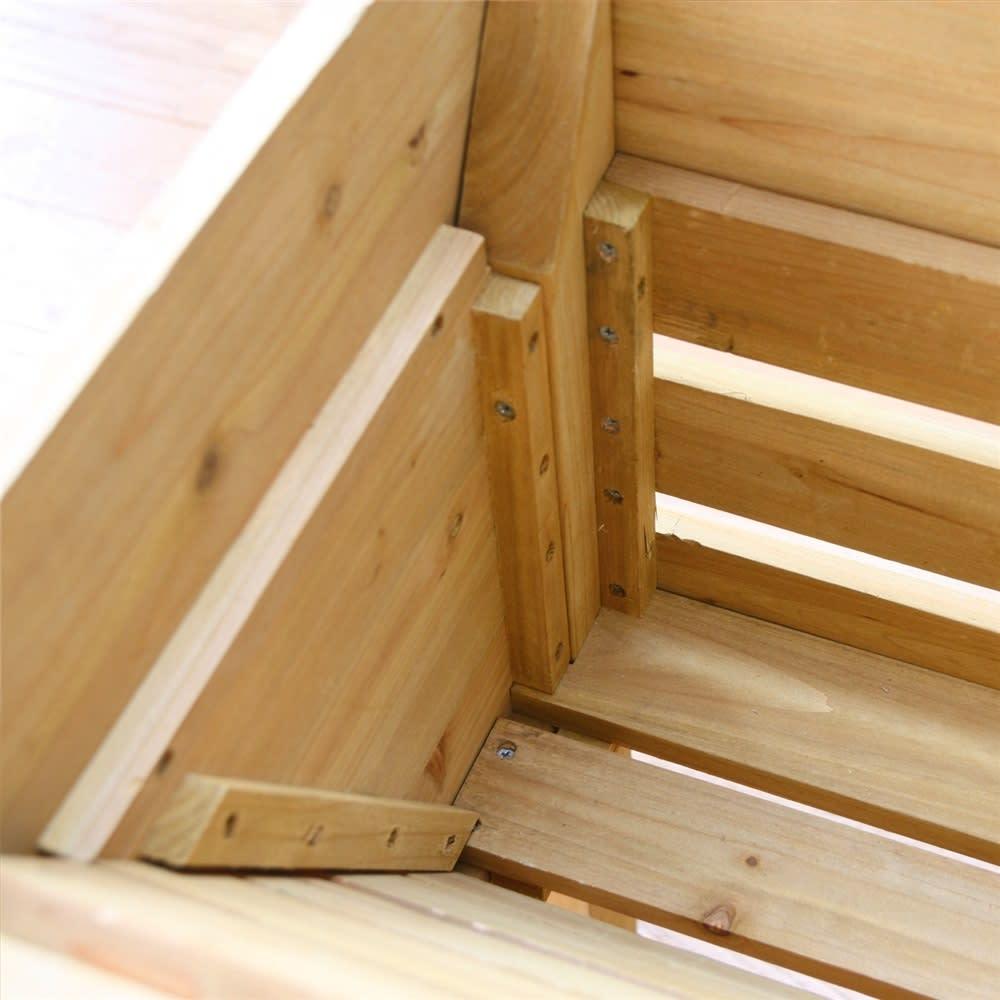 木製菜園プランター ベジトラグ S 商品イメージ ※お届けの色とは異なります。