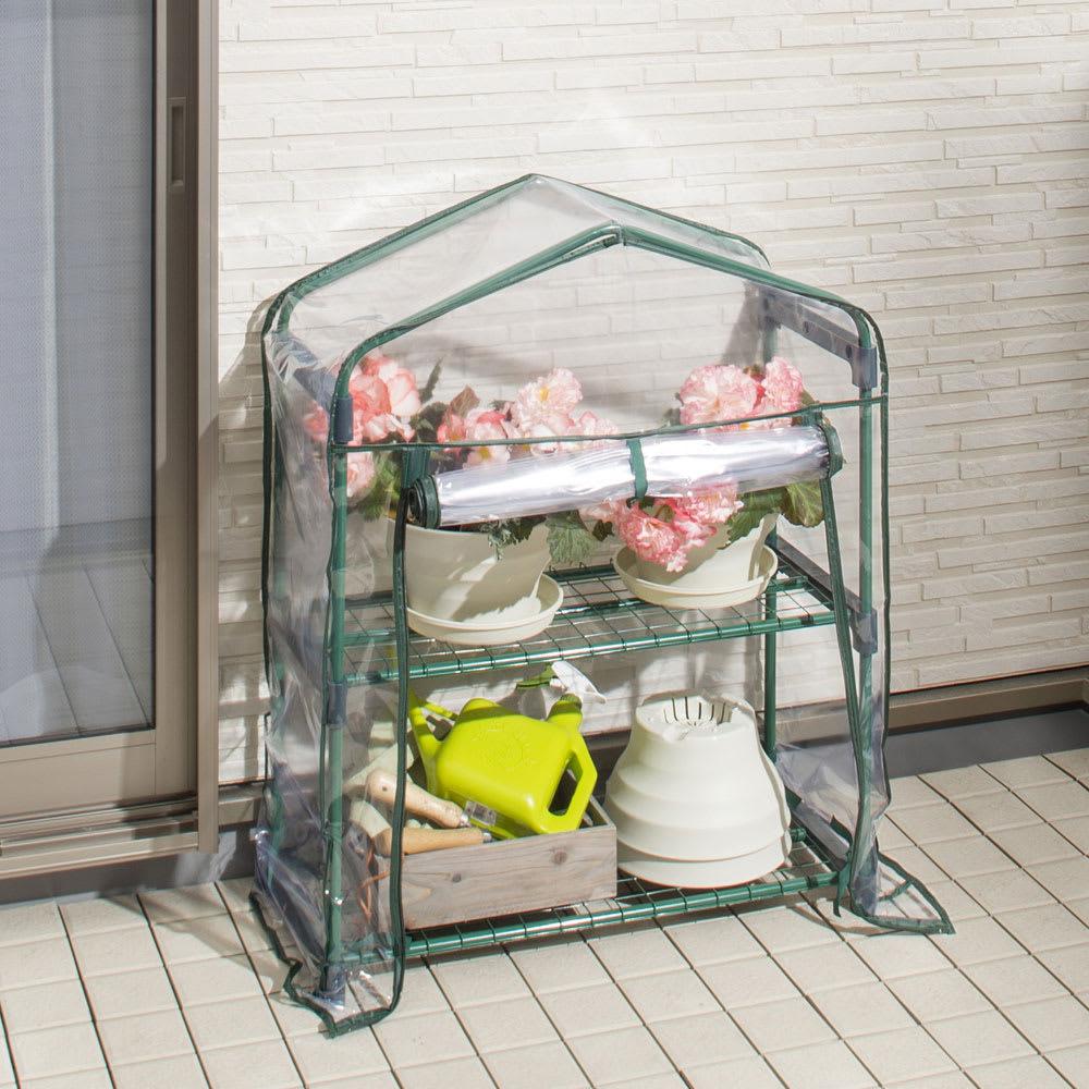 ビニール温室スリム2段 庭手入用品