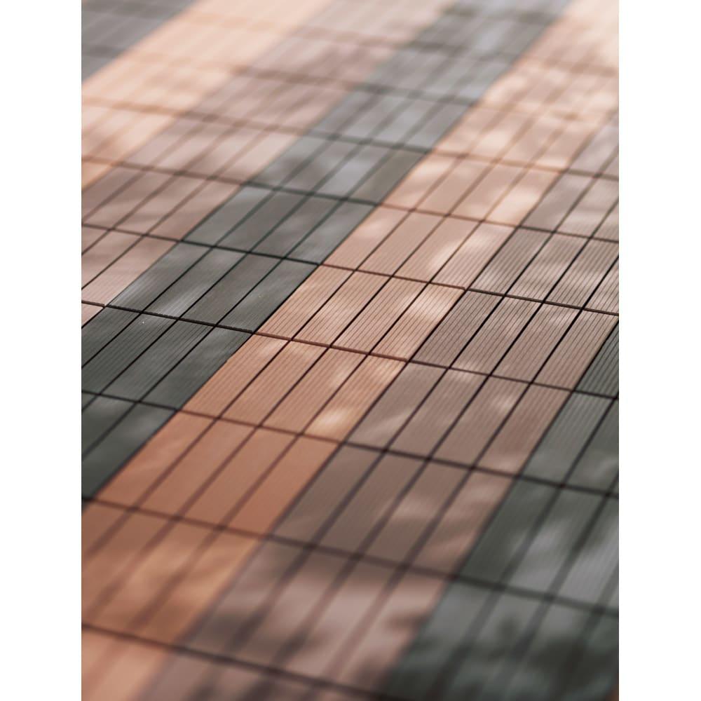 ジョイント式人工木マット 10枚組 (ア)ブラック (イ)ナチュラル (ウ)ブラウン