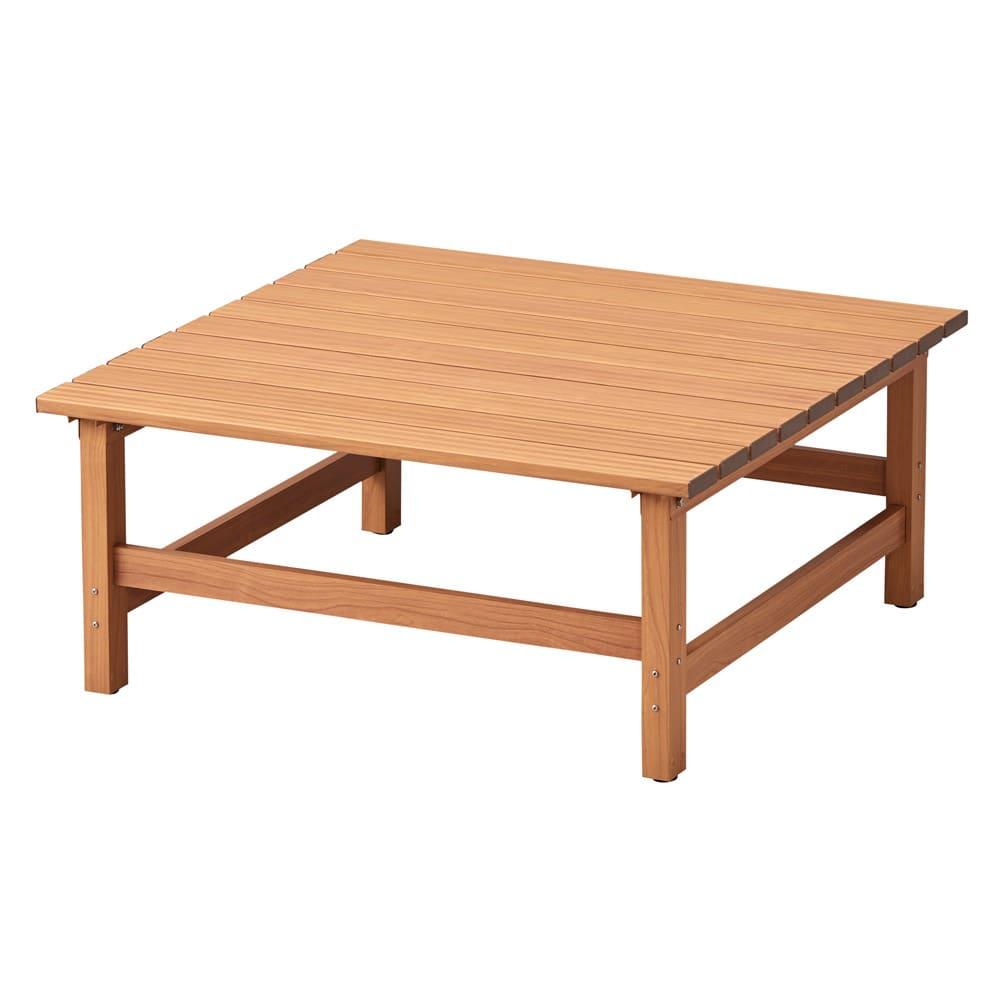 天然木調アルミデッキ縁台 デッキ幅90奥行90cm お届けの商品です。