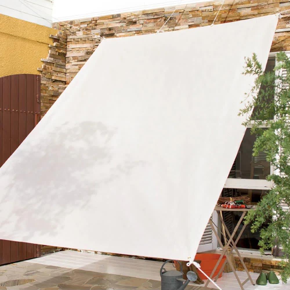 サマーオーニング タープ (ア)アイボリー 使用イメージ ※写真は200×300cmタイプです。