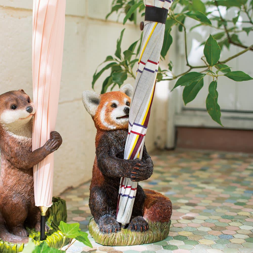 レッサーパンダの傘立て