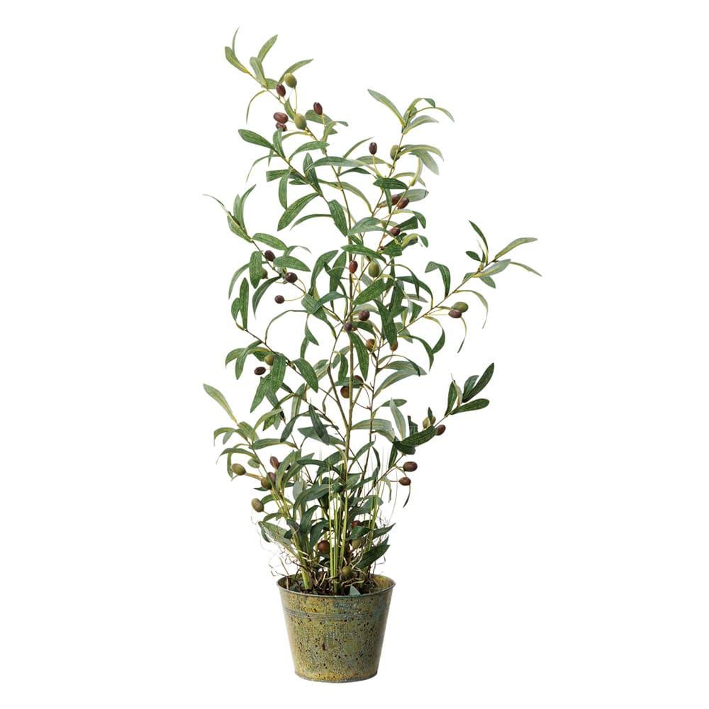 人工観葉植物オリーブ 高さ90cm 鉢カバーなし 90 インテリアフラワー