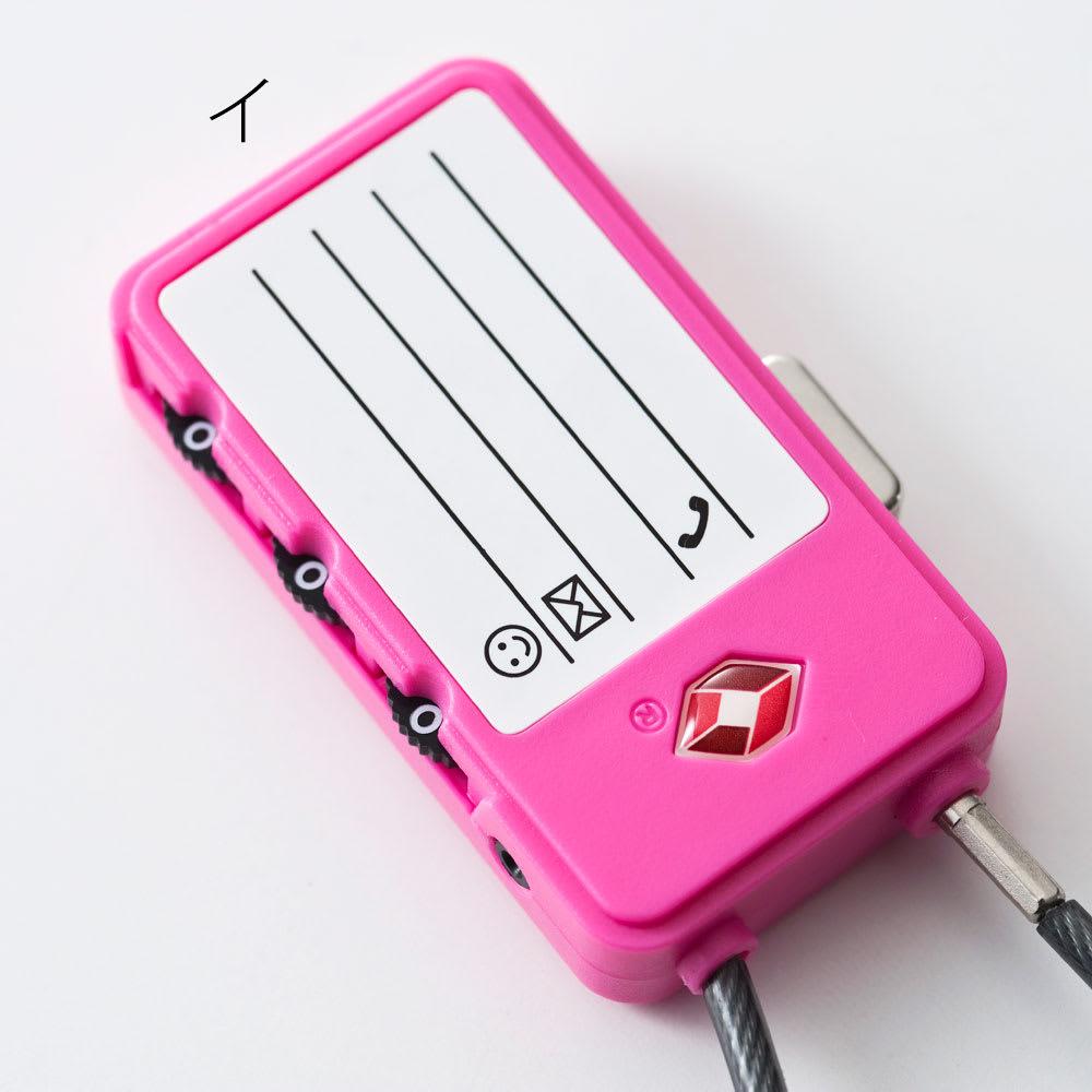 SNOOPY(スヌーピー)/TSAワイヤーロック(旅行に便利な鍵) PEANUTS 裏面は名前や電話番号が書けます。