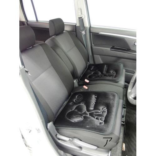 SNOOPY(スヌーピー)/スヌーピーハートフル シートクッション約45×45cm 1枚(カー用品)|PEANUTS ア:使用イメージ 本商品は1枚売りです。使用イメージは2枚を使用しています
