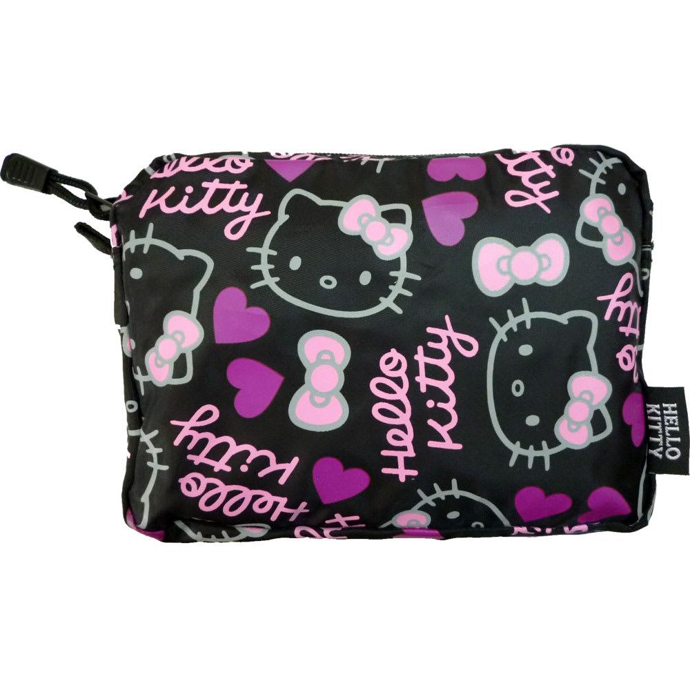 Hello Kitty(ハローキティ)/折りたたみボストンバッグ メニーフェイス(ポーチ付き) 収納用ポーチ