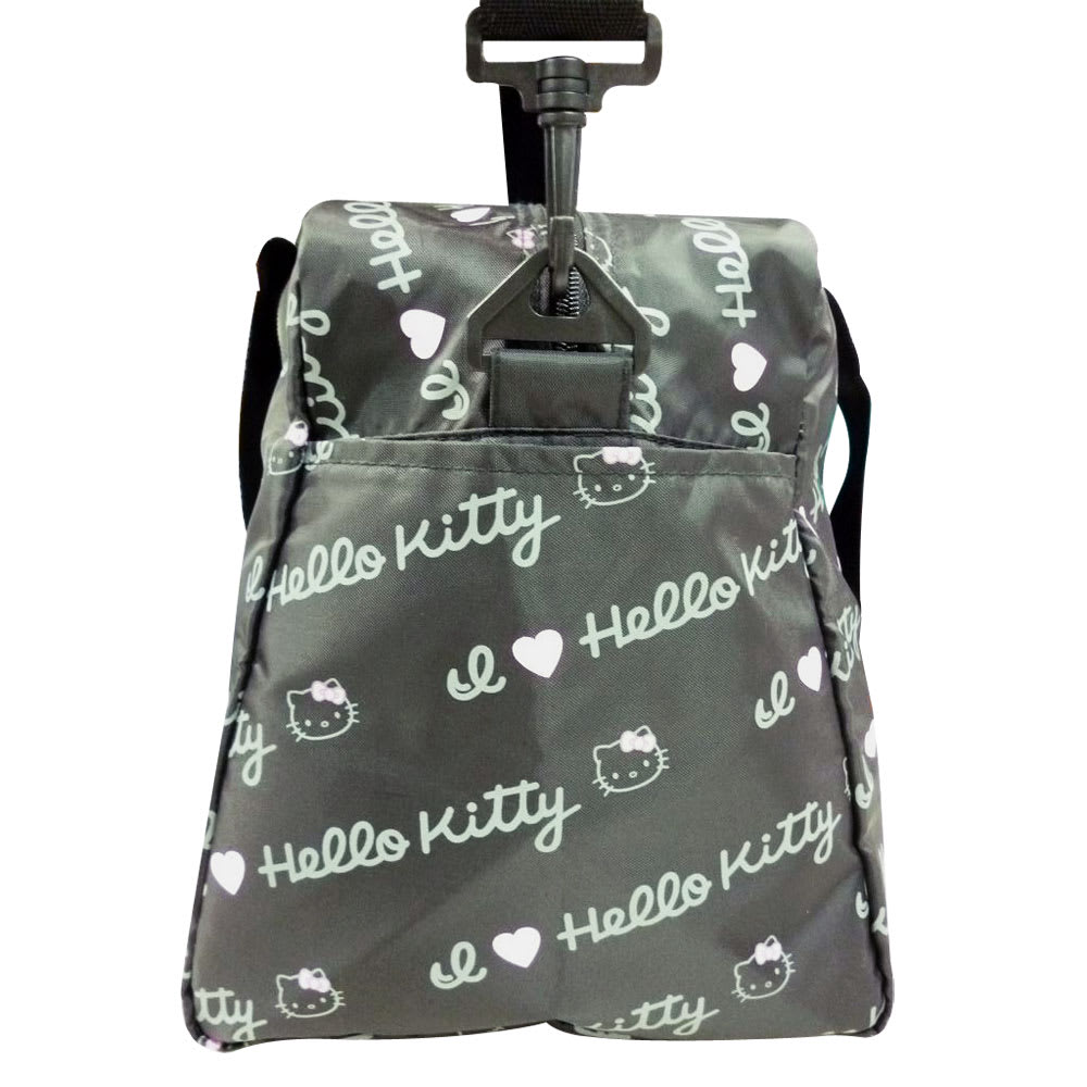 Hello Kitty(ハローキティ)/折りたたみボストンバッグ ロゴ(ポーチ付き・撥水加工) Side