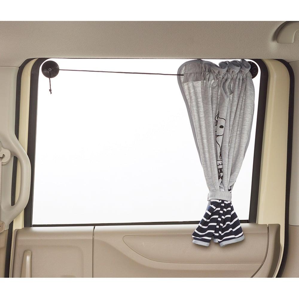 SNOOPY(スヌーピー)/フライングスヌーピー車内用 カーテン1枚 65×50cm|PEANUTS