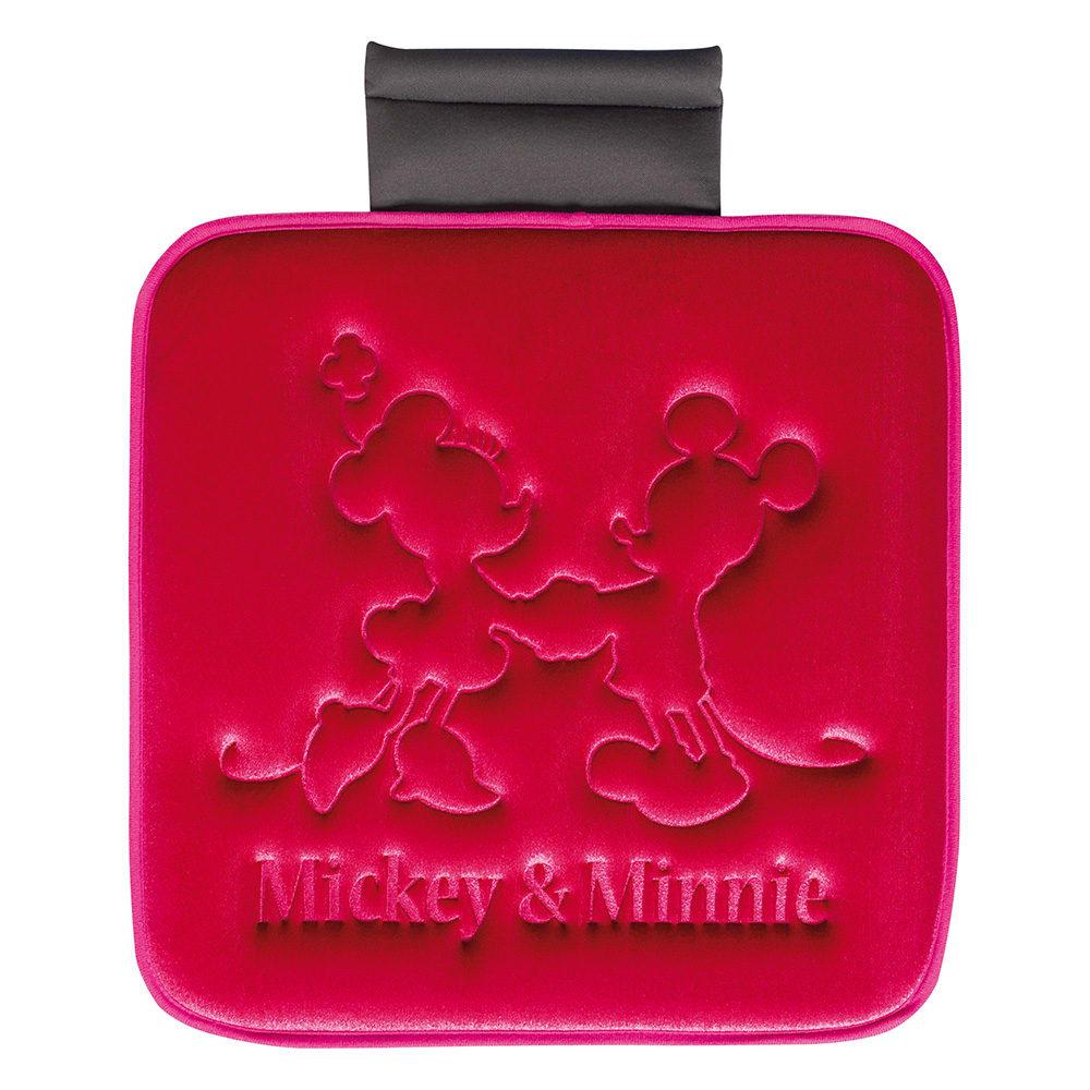 ミッキー&ミニー/プレス シートクッション 45×45cm|Disney(ディズニー) (イ)エンジ