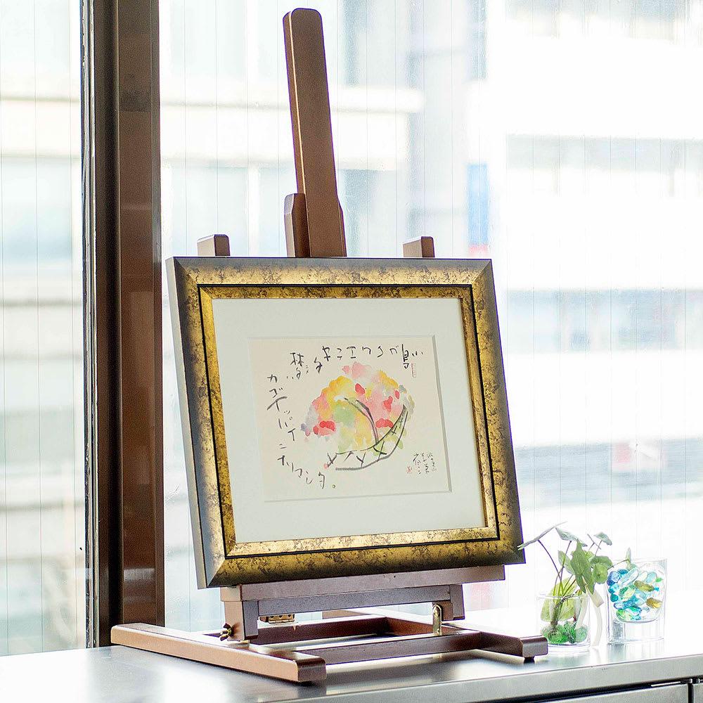 楽(ラク) 作品展示イメージ(商品は別商品の「花籠」商品番号:NV06-91です)。