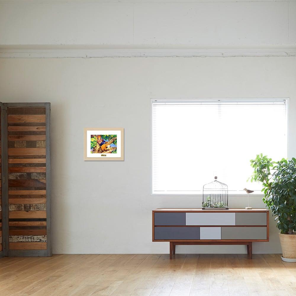 あらいぐまラスカル/木登り お部屋に飾ったイメージ
