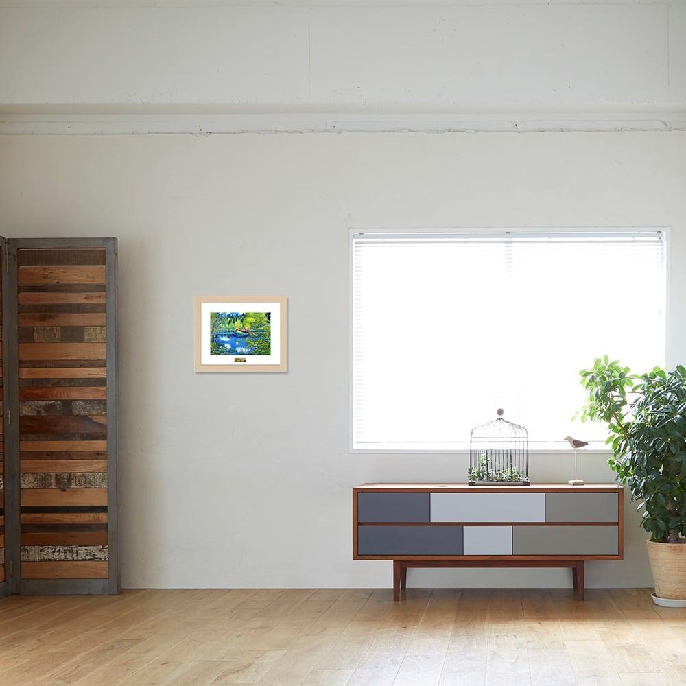 あらいぐまラスカル/夏の湖 お部屋に飾ったイメージ