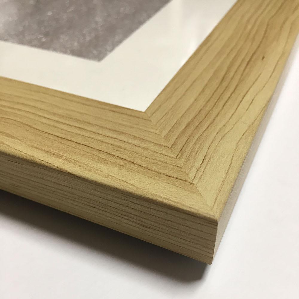 あらいぐまラスカル/暖炉 木目調の樹脂フレーム