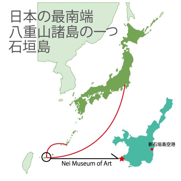 八重山友禅アート/友禅染作家ネイ デイゴ謡(ウタイ)アート 那覇から約410km、東京からは約1950km。白い砂浜、青すぎる海・・・島の魅力は尽きません