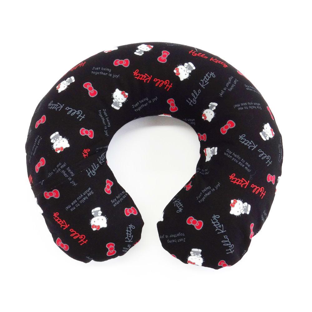 Hello Kitty(ハローキティ)/スタンダードロゴ柄 ミニネックピロー 小さめサイズ・キッズ向き