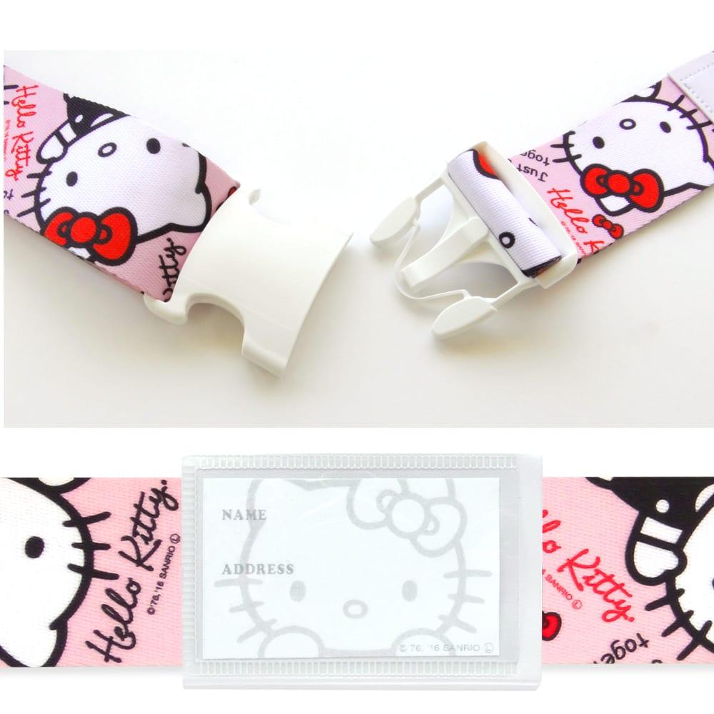 Hello Kitty(ハローキティ)/ワンタッチスーツケースベルト(ワンタッチで簡単) (ア)スタンダード