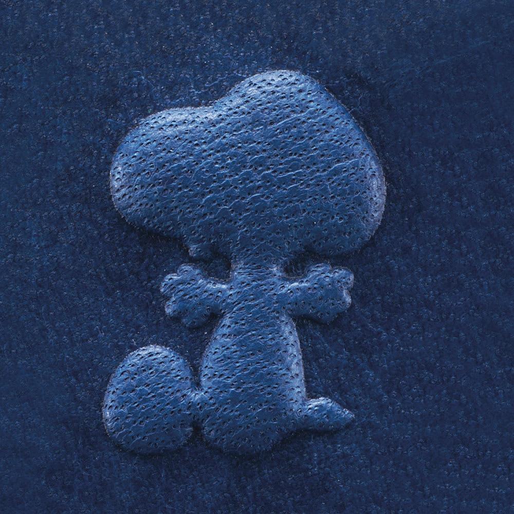 SNOOPY(スヌーピー)/しあわせのジャパンブルー 阿波藍長財布|PEANUTS 立体型押しで、表情豊かなスヌーピーが飛びだしてくるみたい!