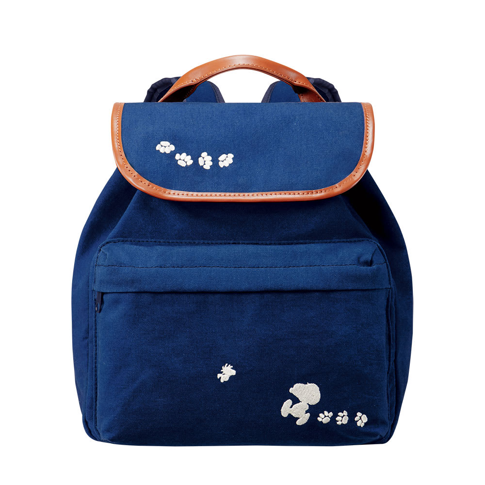 SNOOPY(スヌーピー)/琉球藍 スヌーピーの藍染めリュック|PEANUTS Front