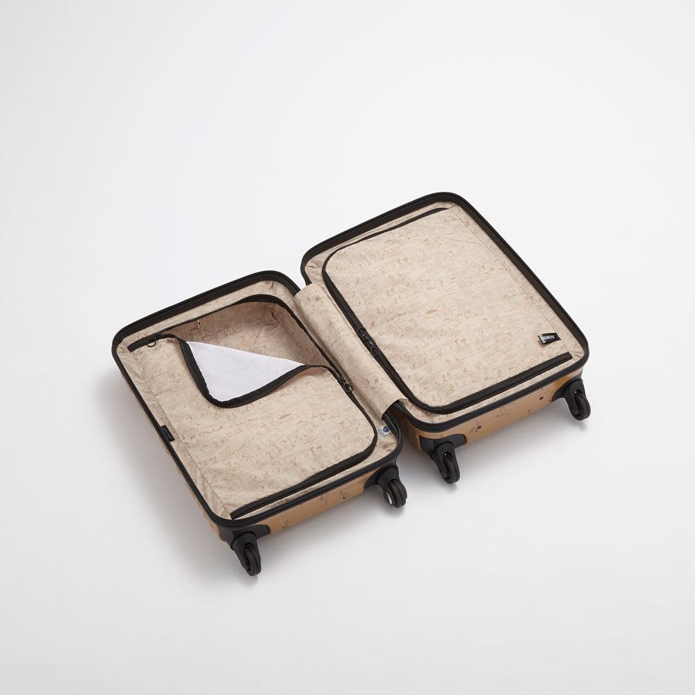 Proteca(プロテカ)/ココナ ピーナッツエディション スーツケース ジッパータイプ 68リットル 内装イメージ