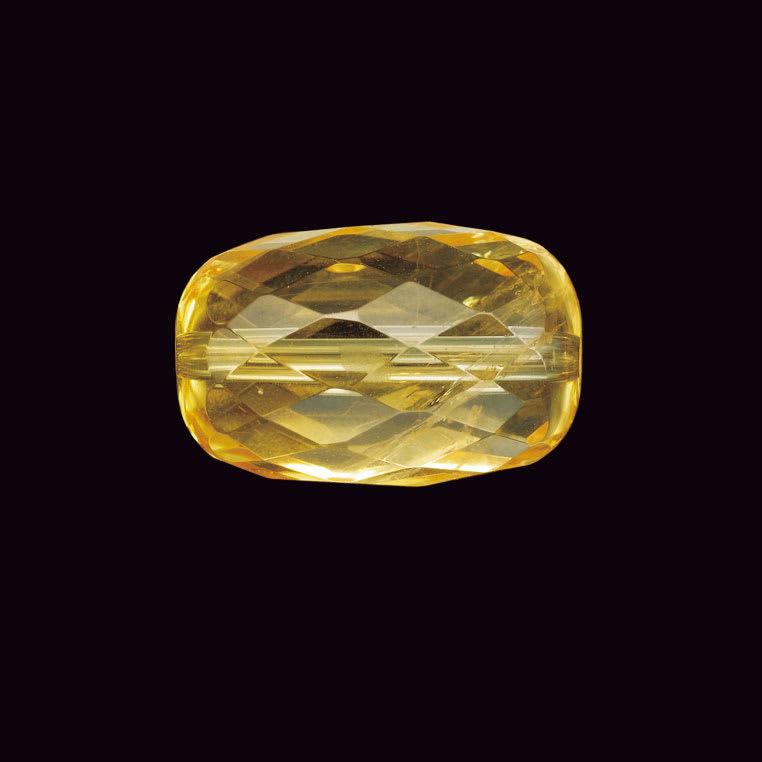 幸せの絆 天然宝石とダイヤモンドの宝飾ブレスレット シトリン