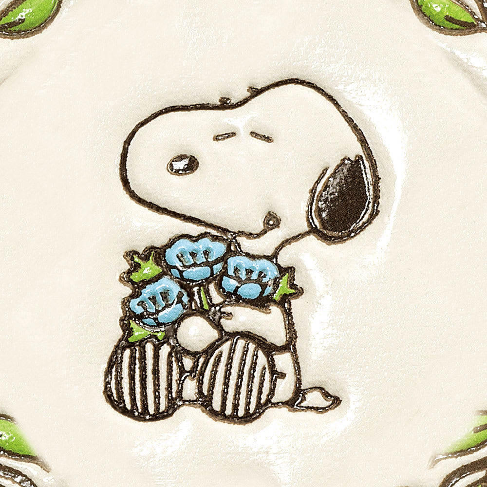【WEB】SNOOPY(スヌーピー)/浅草文庫 牛革製長財布 PEANUTS 芙蓉