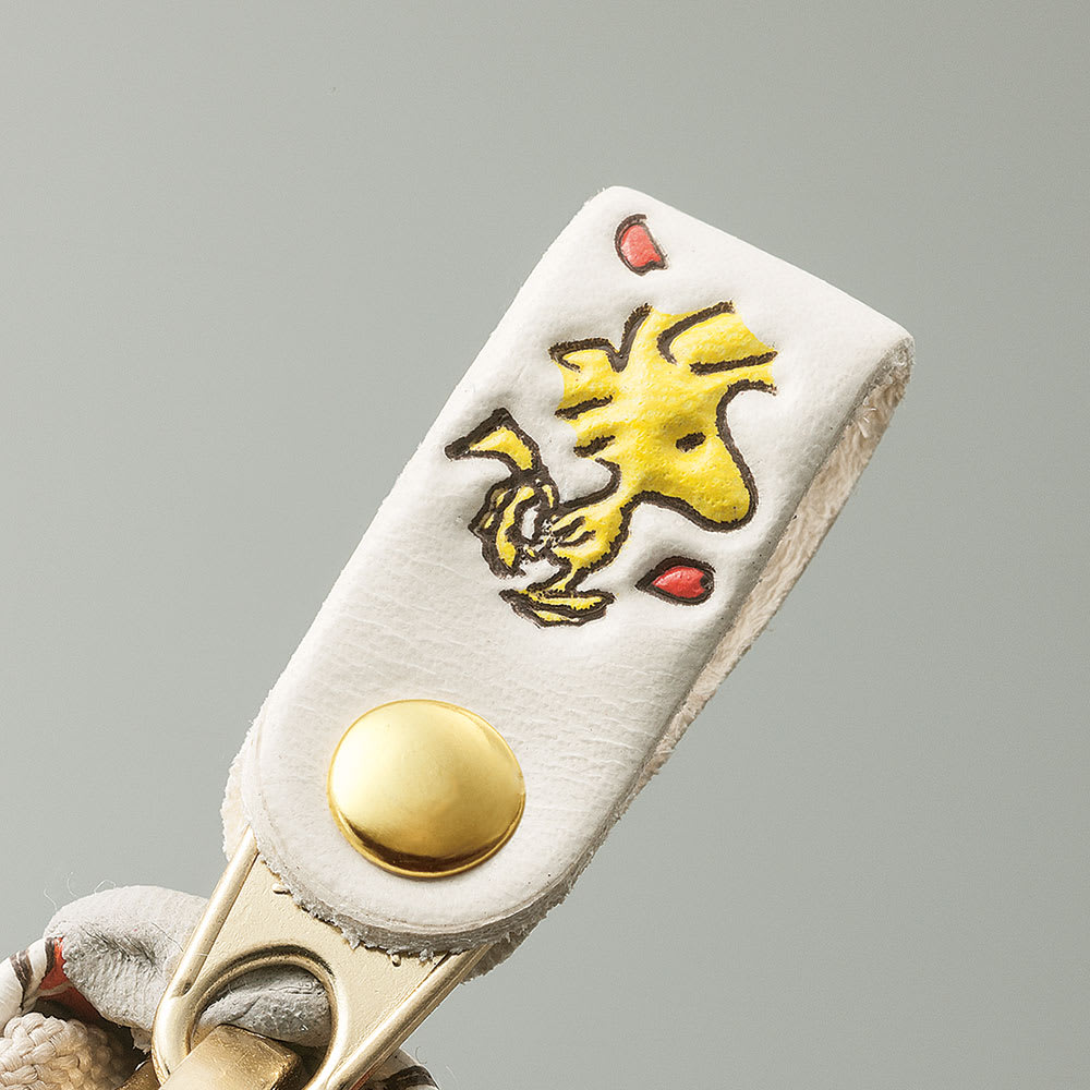 【WEB】SNOOPY(スヌーピー)/浅草文庫 牛革製長財布 PEANUTS ウッドストックが。