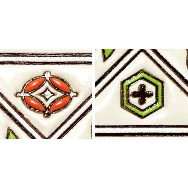 【WEB】SNOOPY(スヌーピー)/浅草文庫 牛革製長財布 PEANUTS 七宝…富貴・円満・調和を表す伝統柄。/亀甲…亀の甲羅をかたどった長寿の象徴