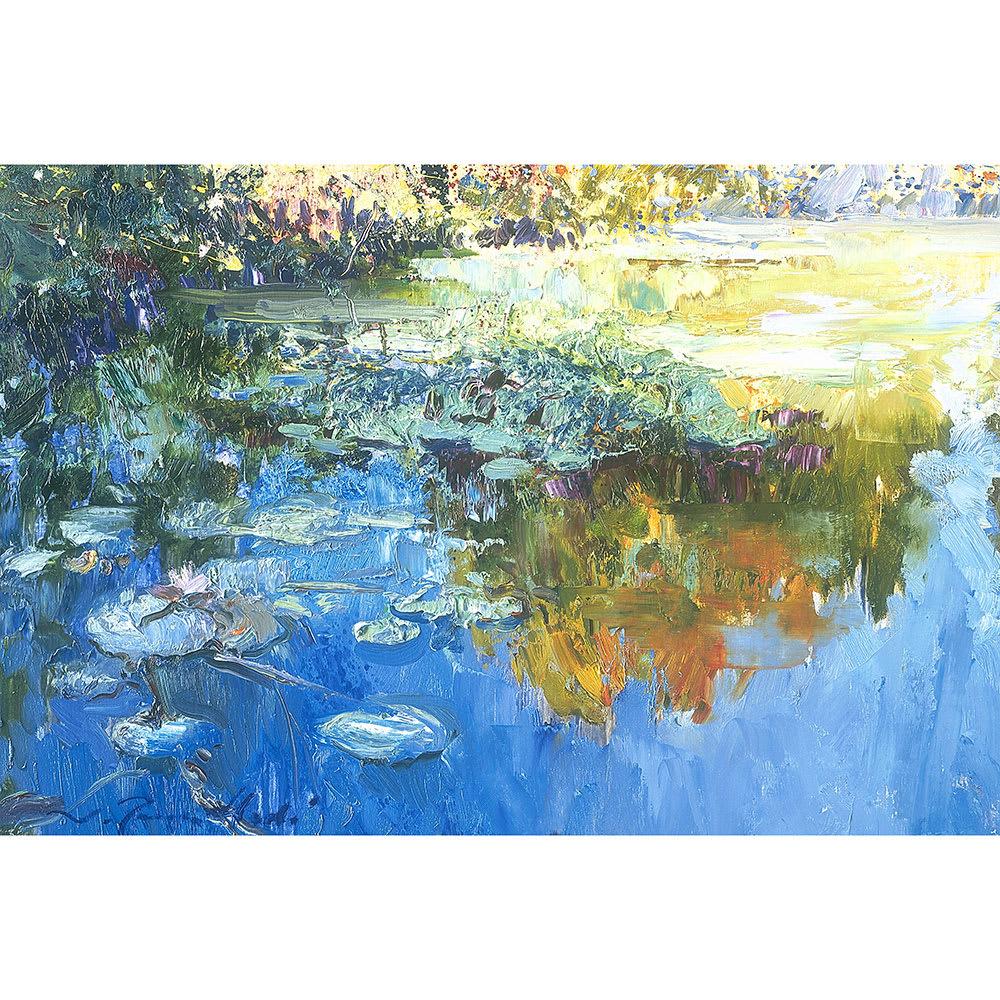 リャド ミニ版画 湖の光