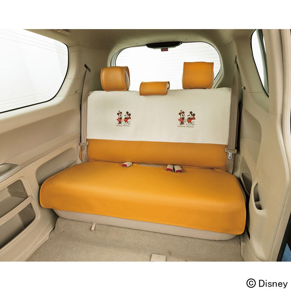 ミッキー&ミニー/ナチュラル 軽コンパクトカー リヤシートカバー|Disney(ディズニー)