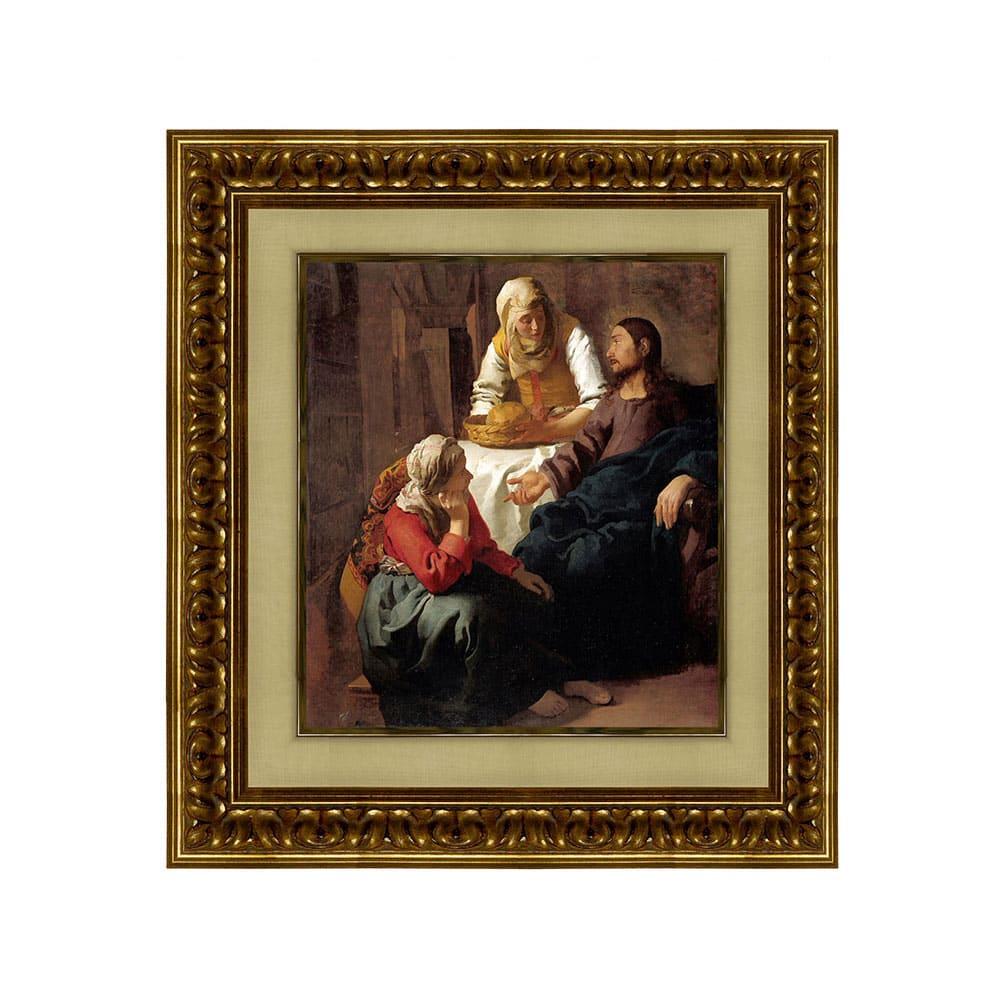 フェルメール/マリアとマルタの家のキリスト(複製画)