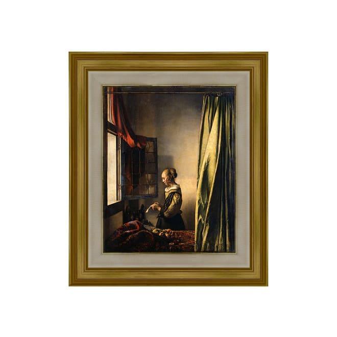 フェルメール/窓辺で手紙を読む女(複製画)