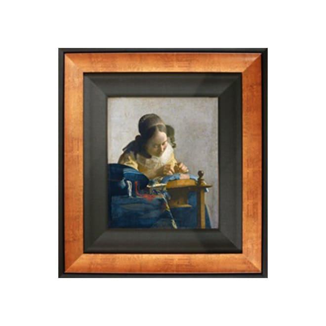 フェルメール/レースを編む女(複製画)