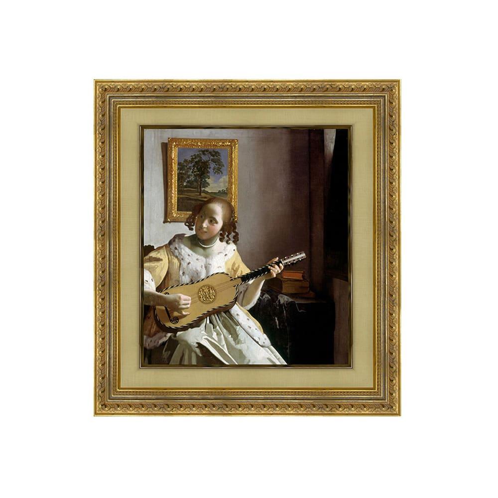 フェルメール/ギターを弾く女(複製画)