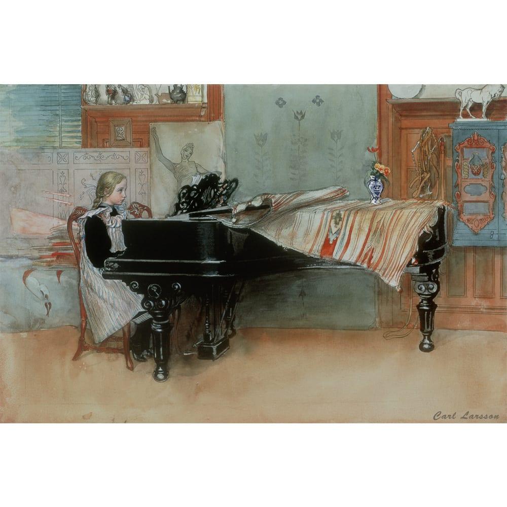 カール・ラーション/ピアノの少女(スウェーデンアート)