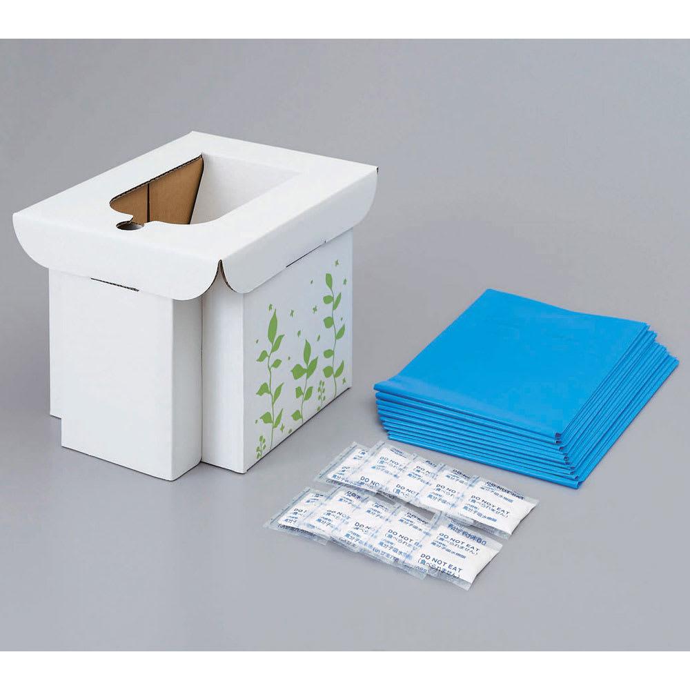 COGIT(コジット)/緊急用組み立て式トイレ セット内容(組立済み)