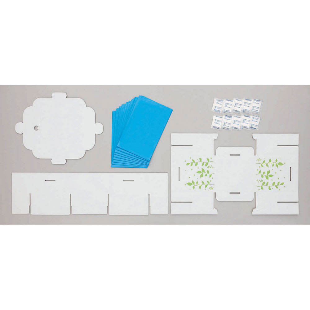 COGIT(コジット)/緊急用組み立て式トイレ セット内容(組立前)