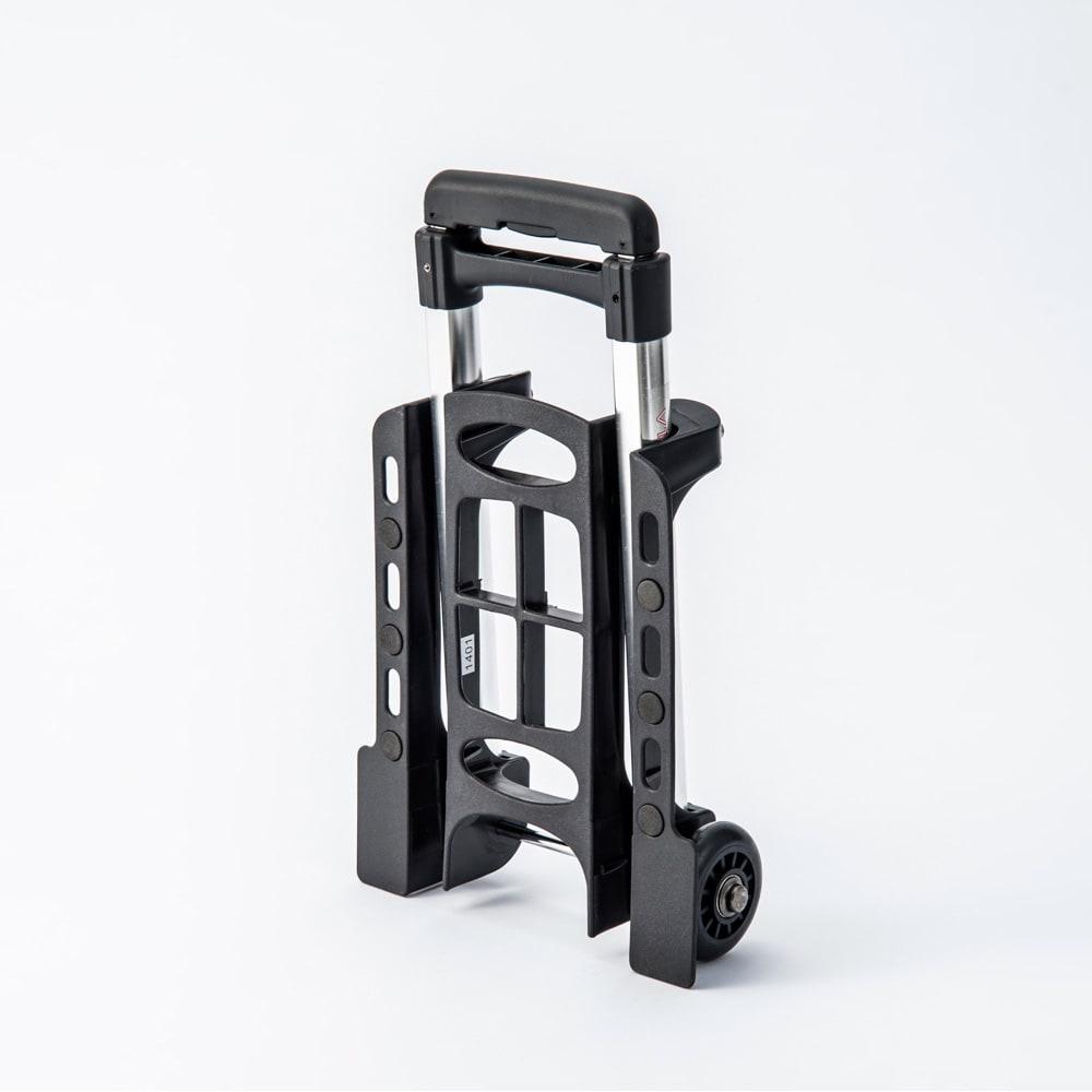 Vita折りたたみミニカート(超軽量!コンパクト!誰でも簡単に使えます) 収納時は、自立可能で、立てて収納できます。