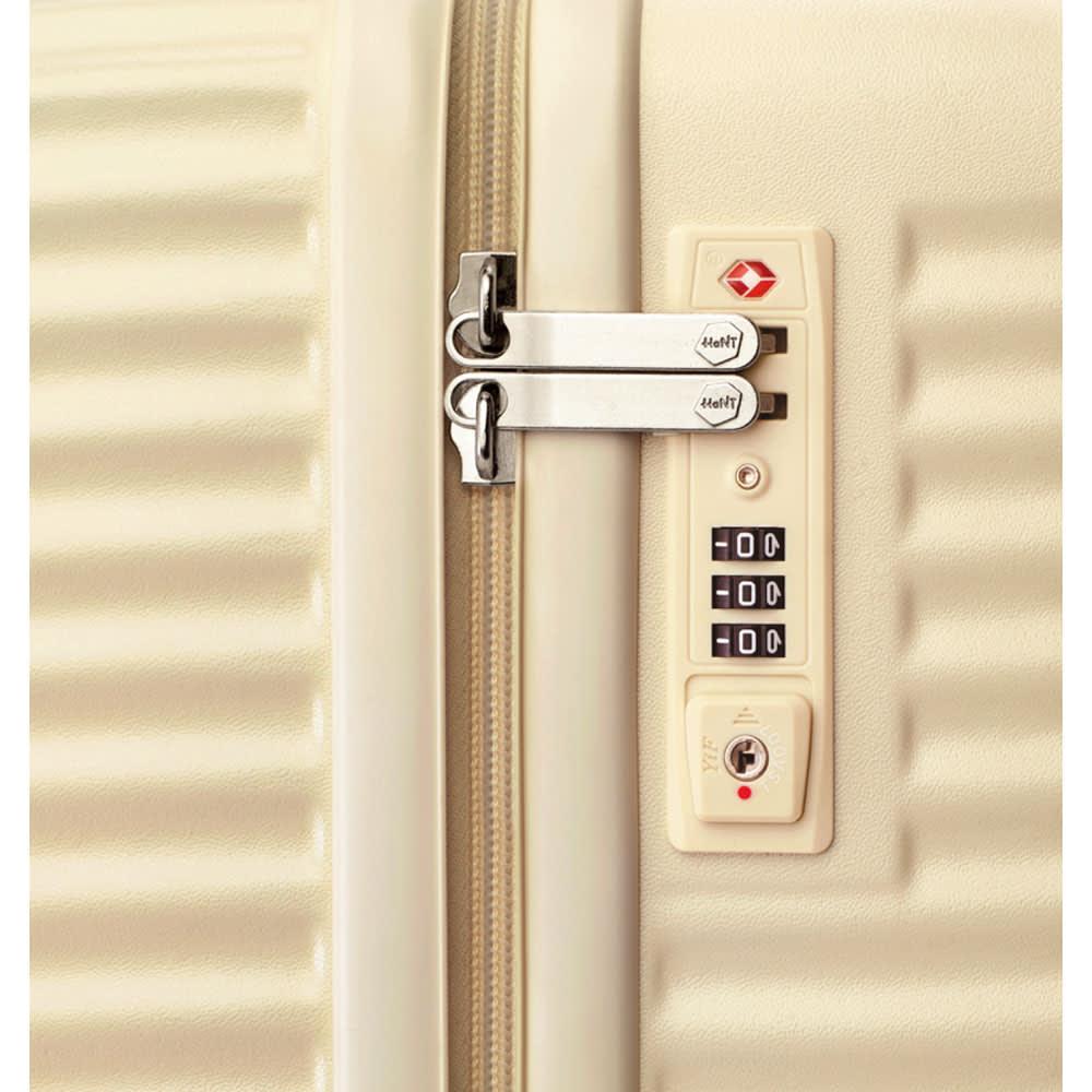 ACE HaNT(ハント) TSAロックスーツケース ストッパー付 75L 4.1kg a.米国への渡航でも施錠したまま預けられるTSAロック搭載。