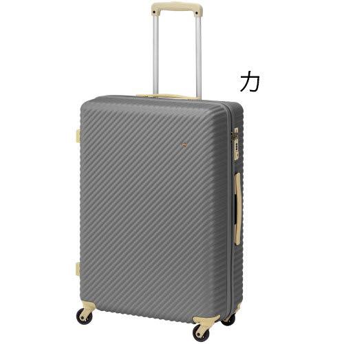 ACE HaNT(ハント) TSAロックスーツケース ストッパー付 75L 4.1kg (カ)サントリナグレー